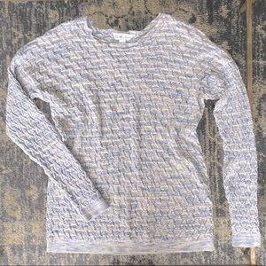 Leo & Nicole Long Sleeve Pointelle Sweater